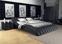 Кровать кожаная двуспальная Tatami (Soft Bed)