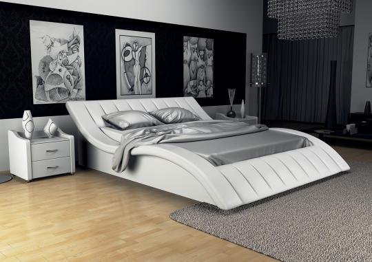 Кровать кожаная двуспальная Tatami-2 (Soft Bad)
