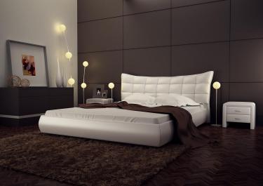 Кровать кожаная двуспальная Palermo (Soft Bad)