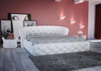 Кровать кожаная двуспальная Orсhidea (Soft Bad)
