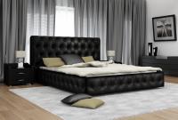 Кровать кожаная двуспальная Diamant-1 (Soft Bad)