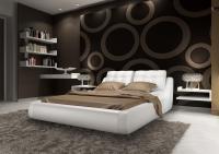 Кровать кожаная двуспальная Manhatten (Soft Bad)