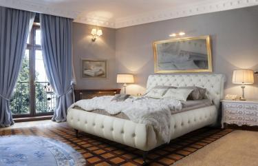 Кровать кожаная двуспальная Sofia (Soft Bad)