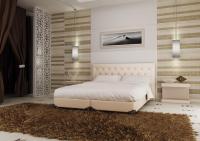 Кровать кожаная двуспальная Caprice 3(Soft Bad)