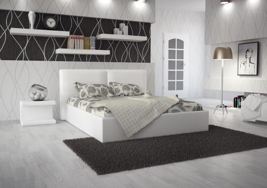 Кровать кожаная двуспальная Scandinavia 1 (Soft Bad)-2