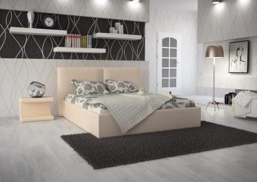 Кровать кожаная двуспальная Scandinavia 1 (Soft Bad)
