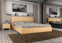 Кровать кожаная двуспальная Scandinavia 2 (Soft Bad)