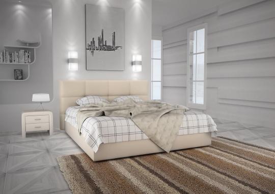 Кровать кожаная двуспальная Scandinavia 3 (Soft Bad)