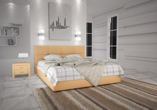 Кровать кожаная двуспальная Scandinavia 3 (Soft Bad)-2