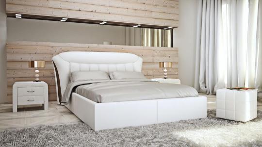 Кровать кожаная двуспальная Florence (Soft Bad)