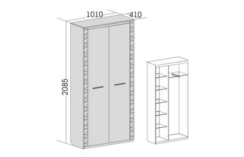 Шкаф 2-дверный Элана-1