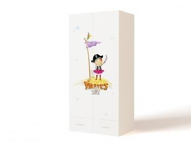 Шкаф 2-х дверный PS-1007 Pirates (Пиратка)