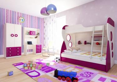 Комбинированная 3х уровневая кровать с выдвижным ящиком Романо