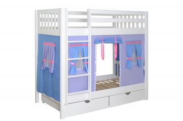 Кровать детская игровая 2х-ярусная Галчонок-2 со шторками