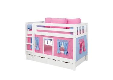 Детская двухъярусная кровать Мальвина со шторками