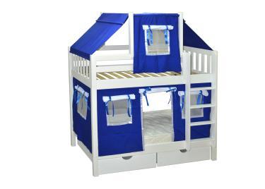 Кровать игровая 2х-ярусная Скворушка 1 со шторками