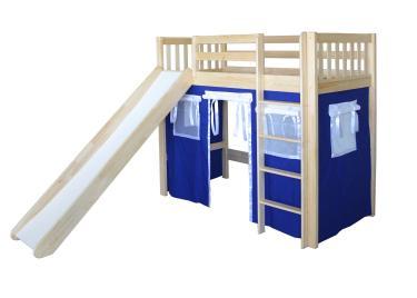 Кровать игровая 2х-ярусная Трубодур-1 со шторками