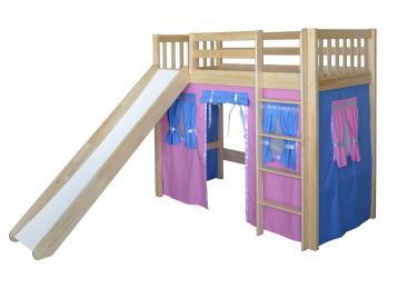 Кровать игровая 2х-ярусная Трубодур-3 со шторками