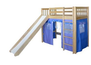 Кровать игровая 2х-ярусная Трубодур-4 со шторками
