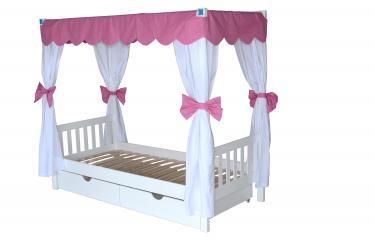 Детская двухъярусная кровать Росинка со шторками