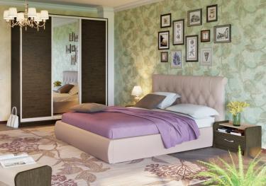 Интерьерная кровать Тиффани 160 с ортопедическим основанием