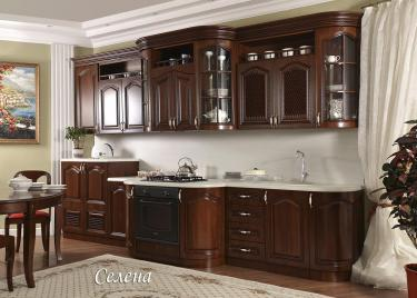 Кухня Селена прямая 3,98, текстура караваджо