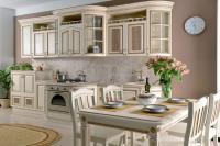 Кухня Селена прямая 3,98, текстура крем