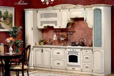 Кухня Мадлен прямая 3,60, текстура крем