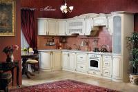 Кухня Мадлен угловая текстура крем