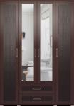 Шкаф для одежды с ящиками 4-х дверный (с зеркалами) 01 Аргентина