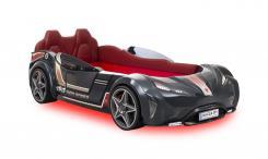 Кровать машина GTI (без матраса), сп.м 90х195см, серый CARBEDS CRB-1331