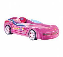 Кровать машина BITURBO CRB-1337 (без матраса), матрас 90х195см, розовая