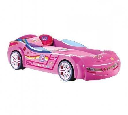 Кровать-машина BiTurbo розовая Carbed 1337
