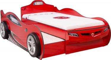Кровать-машина Coupe c выдвижной кроватью красная (90х190/90х180) Carbed 1306