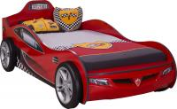 Кровать машина COUPE CRB-1304 (без матраса), матрас 90х190см, красная