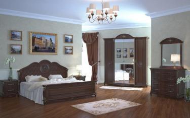 Спальня Да Винчи (орех) вариант 1