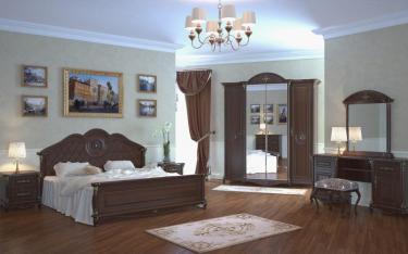 Спальня Да Винчи (орех) вариант 2