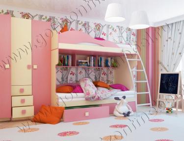 Детская Радуга (фламинго) вариант 1