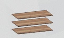 Доп. полки в шкаф для одежды (комплект 3 шт) Бруно