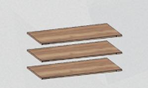 Доп. полки в шкаф для одежды (комплект 3 шт) Бруна