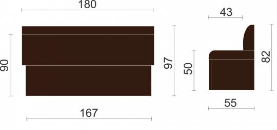 Кухонный диван Дублин-6