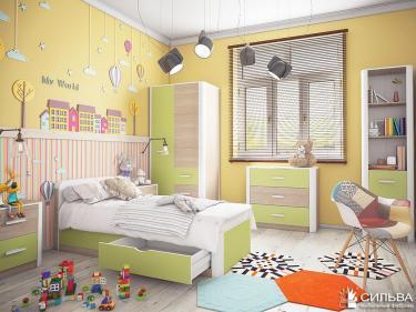 Подростковая комната Артек лён комплектация 1