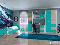 Подростковая комната Артек аква