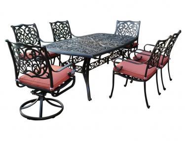 Комплект мебели из литого алюминия БАРСЕЛОНА обеденная группа