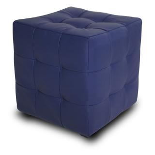 Банкетка Лотос синяя экокожа