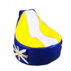 Кресло мешок Comfort  Britain Yellow (экокожа)