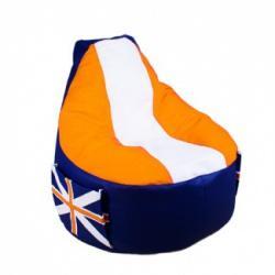 Кресло мешок Comfort Britain Orange (экокожа)