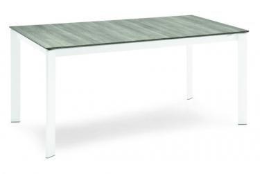 Стол металлический EMINENCE 160 сатин / серый дуб