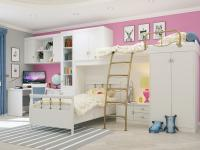 Подростковая комната Итальянские Мотивы 5 белый рамух