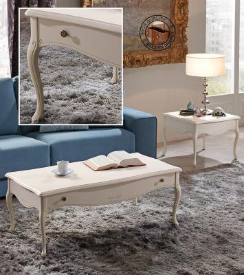 Журнальный столик Panamar модель 736.112, 736.606 белый